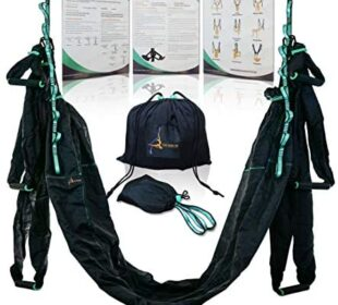 Aerial Yoga Swing Hammock – Strong & Durable Antigravity Inversion Kit with Trapeze Sling – Ideal for Home & Gym Fitness