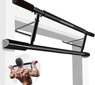 DrmNdth Pull Up Bar for Doorway No Screw, Chin Up Bar Upper Body Workout Bar for Home Gym Exercise Fitness, Tool Free and No Drill Installation