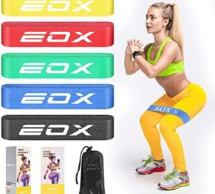 EOX Exercise Resistance Fabric Loop Bands, Non-Slip Resistance Workout Bands for Legs & Butt and Glutes, 5 Resistance Levels Hip Training Bands