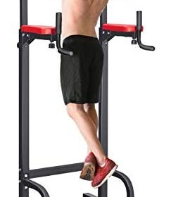 RELIFE REBUILD YOUR LIFE Power Tower Dip Pull Up Station Tower for Home Gym Strength Training Fitness Equipment