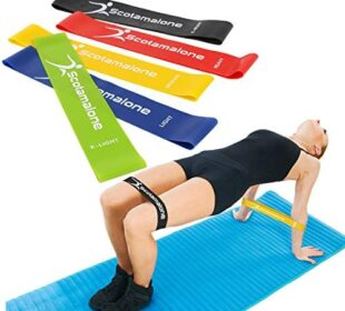 "Scotamalone Resistance Loop Bands, Resistance Exercise Bands for Home Fitness, Stretching, Strength Training, Physical Therapy, Natural Latex Workout Bands, Pilates Flexbands, 12"" x 2"""