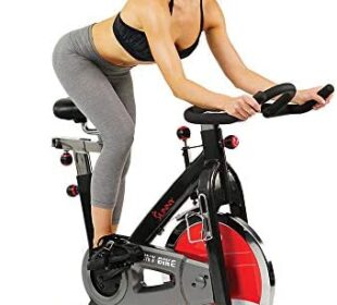 Sunny Health & Fitness Exercise Cycling Bike with Heavy 49 LB Chrome Flywheel - SF-B1002/C