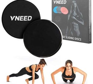 【2020 Update】 Core Exercise Sliders (Set of 2), Smooth Gliders Dual-Sided Design, Use on Hardwood Floors, Workout Sliders Fitness Discs Abdominal & Total Body Gym-Exercise Equipment for Home, Travel