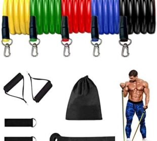 Amavasion 11 Pack Resistance Bands Set Suitable for Home Workouts,Physical Therapy,Gym Training,Yoga