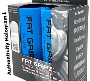 "Fat Gripz - The Simple Proven Way to Get Big Biceps & Forearms Fast (Winner of The Men's Health Magazine Home Gym Award 2020) (2.25"" Outer Diameter) (Fat Grips – Heavy Duty Rubber)"