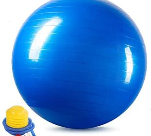 GOTRUTH Exercise Ball (45-75cm) Extra Thick Exercise Ball, Anti-Burst Heavy Duty Yoga Ball Supports 2200lbs(Office & Home & Gym)
