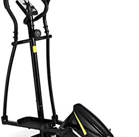Goplus Elliptical Machine Trainer, Cross Trainer Magnetic Exercise Machine for Home with 8 Level Resistance and Digital Monitor and Extra-Large Pedal