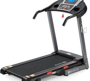 MARNUR Treadmill Electric Folding Treadmills for Home with Incline Portable Motorized Running Machine Heavy Duty Exercise Machine with 15 Preset Programs with Pad/Phone & Cup Holder