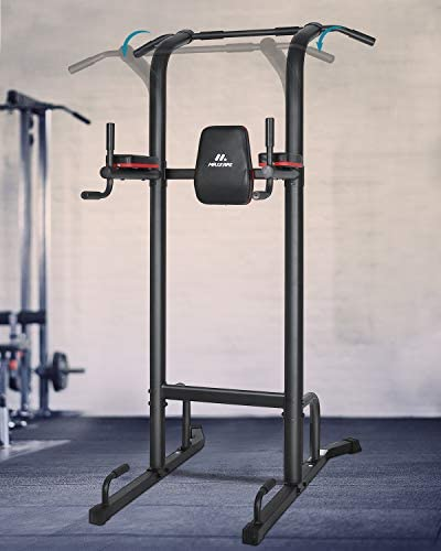 MaxKare Power Tower Workout Dip Stand Pull Up Bar Station Professional Strength Training Fitness Equipment Durable & Stable for Home Gym