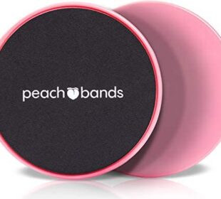 PEACH BANDS Core Sliders Fitness - Dual Sided Exercise Discs for Abs and Core