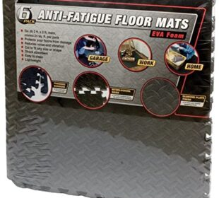 "Performance Tool W88989 24"" X 24"" Protective Diamond Shape Anti-Fatigue Interlocking Floor Mat (24 Square Feet)"