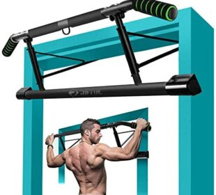 Pull Up Bar for Doorway No Screw with Mount Hook, Chin Up Bar Ergonomic Grip Home Gym Exercise Equipment Strength Training Body Workout Tool