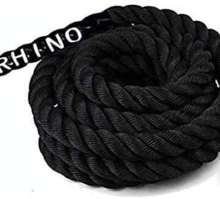 "Rhino Fitness Battle Ropes - 1.5 & 2"" Diameter 30/40/50 ft Length for Cross Fit Cardio Home Exercising Gym Strength Training and Outdoor Workout (Mounting Anchor NOT Included)"