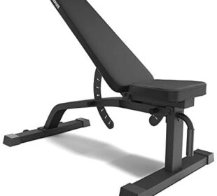 Synergee Adjustable Incline Decline Workout Bench – Weight Bench for Dumbbell & Barbell Press Exercises & Workouts – Great for Commercial, Garage and Home Gym