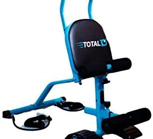 TOTAL10 Ab Trainer w/5 Position Inclining Seat That Features The Exclusive 10moves in 10minutes Full Body YouTube Workout | Folds for Secure Storage. Beginner | Intermediate & Advanced Tension.