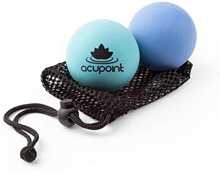 Acupoint Physical Massage Therapy Ball Set - Ideal for Yoga, Deep Tissue Massage, Trigger Point Therapy and Myofascial Release Physical Therapy Equipment