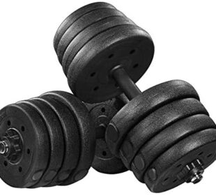 Adjustable Dumbbells Set, 30kg Dumbbell Weight Set for Women and Men Home Fitness Gym Exercise Training Tools (Black)