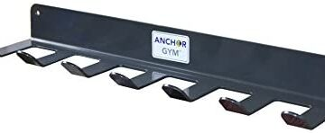 Anchor Gym R7 Seven Prong Storage Rack for Fitness Bands,Straps,Jump Ropes, Foam Rollers-(Wood Screws Included)
