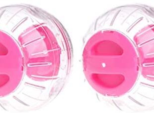 Balacoo 2PCS Hamster Running Ball Plastic Run Exercise Ball Small Animals Run-About Ball Accessory (Pink)