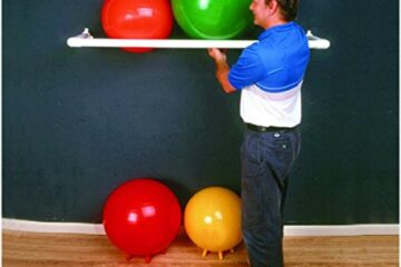 "CanDo 30-1831 Inflatable Exercise Ball, Accessory, PVC Wall Rack, 1 Shelf, 64"" x 18"" x 2"""