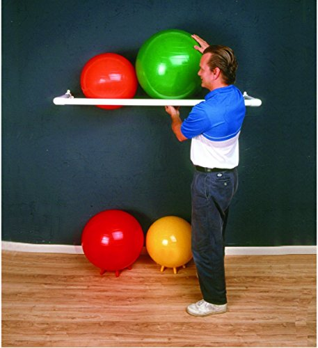 """CanDo 30-1831 Inflatable Exercise Ball, Accessory, PVC Wall Rack, 1 Shelf, 64"""" x 18"""" x 2"""""""