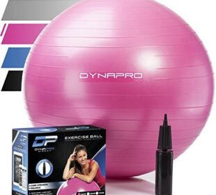 DYNAPRO Exercise Ball – Extra Thick Eco-Friendly & Anti-Burst Material Supports Over 2200lbs – Stability Ball for Home, Gym, Chair, Birthing Ball
