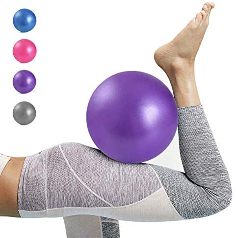Kalovin Pilates Ball, Mini Exercise Ball, Barre Ball, 9 Inch Small Slip Resistant Balls with Inflatable Straw for Yoga, Pilates, Barre, Physical Therapy, Stability Exercise Training Gym