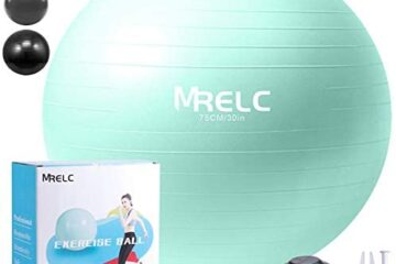 MRELC Exercise Ball Yoga Ball Fitness Ball Birthing Ball,(2200lbs Professional Grade Anti Burst Tested), Slip Resistant Stability Balance Ball for Fitness,Pilates & Yoga with Quick Pump (Mint Green)