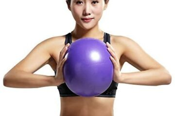 Mini Yoga Pilates Ball 10 Inch for Stability Exercise Training Gym Anti Burst and Slip Resistant Balls with Inflatable Straw