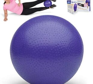 "Norco 9"" Mini Exercise Ball with Exercise Instruction. Small Professional Yoga ball for Barre, Pilates, Physical Therapy. For Strength, Balance, Core Fitness, Clinic Rehabilitation, Studio, Home Gym."