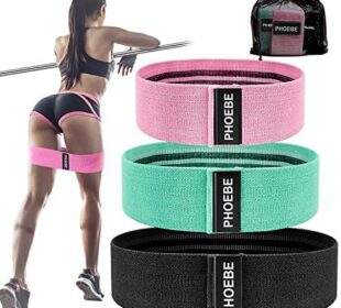 PHOEBE Resistance Bands,Booty Bands with Three Different Size and Levels,Work Out Bands for Legs and Butt,Mini Bands for Women,Exercise Bands Set Workout Bands Anti Slip Resistance Loops Bands