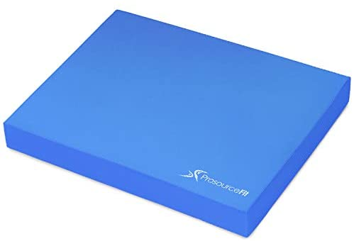 ProsourceFit Exercise Balance Pad, Non-Slip Cushioned Foam Mat & Knee Pad for Fitness and Stability Training, Yoga, Physical Therapy