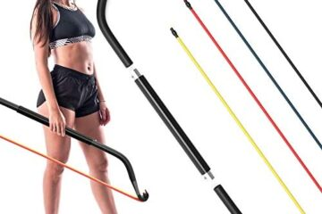 Synergee Resistance Bow. Portable Home Gym with Resistance Bands and Bar System. Collapsible Resistance Bar with Handles. Full Body Workouts for Home, Travel or Outdoors.