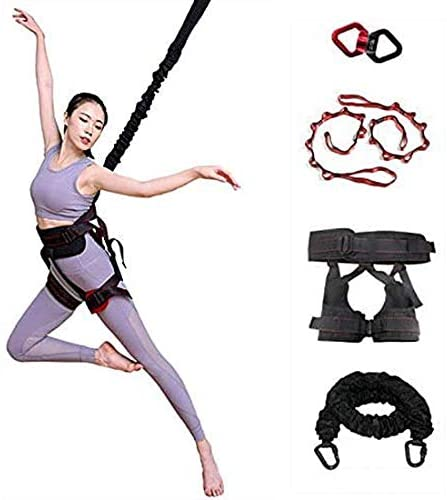 Upgraded Heavy Bungee Cord, Gravity Yoga Bungee Rope Tool Belt Resistance Belt for Home Gym Studio (Weight Grade 3:80kg)
