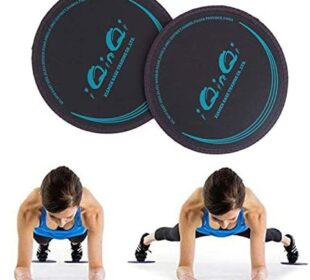 iQinQi Exercise Glider Discs, Exercise Core Sliders for Working Out, Dual Sided Sliding Discs Use on Hardwood Floors, Workout Discs Abdominal & Total Body Gym Exercise Equipment for Home, Travel
