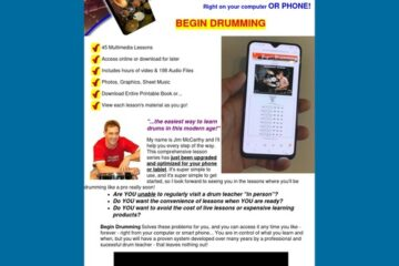 Begin Drumming System - 45 multimedia drum lessons right on your phone!