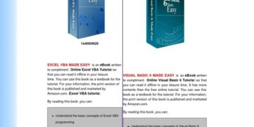 VBA book and Visual Basic 6 book