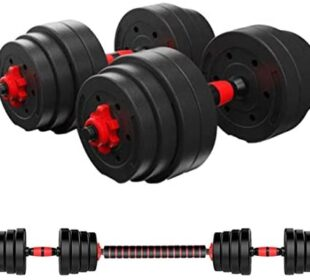 Adjustable Dumbbell Set, Male and Female Fitness Free Weight Dumbbell Set with Connecting Rod can be Used as a Barbell for Home Fitness and Exercise Training (22lb-88lb,3 Color Options)