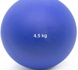 Crown Sporting Goods 4.5 Kg (9.92lbs) Indoor Shot Put Ball - Indoor Track & Field Quality Shot Put Ball for Indoor Practice & Weight Training for Men & Women