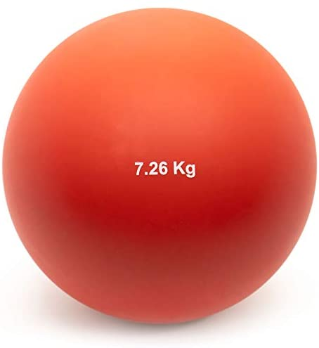Crown Sporting Goods 7.26 Kg (16lbs) Indoor Shot Put Ball - Indoor Track & Field Quality Olympic Size Shot Put Ball for Indoor Practice & Weight Training for Men & Women