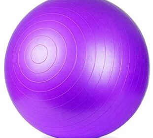 ETCBUYS Premium Exercise Ball 65 cm Extra Thick Yoga Ball and Fitness Balls Yoga Equipment and Accessories for Beginners, Swiss Ball Help with Pregnancy Birthing Ball