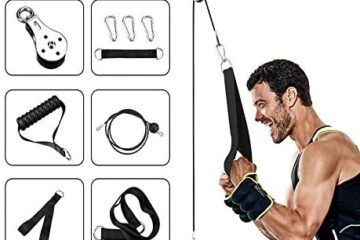 Elikliv Cable Pulley Attachments System for Gym, Wrist Trainer Arm Strength Training Equipment Home Triceps Pulley System for LAT Pulldowns, Bicep Curls, Triceps Extensions Fitness Workout