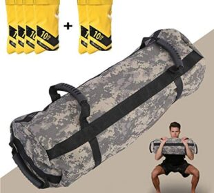 Estleys Workout Sandbag for Fitness 10 to 40 Lbs, Adjustable Military Sandbags with 4 and 2 Inner Bags, Training Weight Bags, Full Body Exercise Equipment with Filler Bag