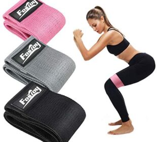 Fostoy Resistance Bands Set, 3 Pack Non-Slip Exercise Bands, Booty Bands Hip Bands for Legs and Butt Fitness Loop Bands for Women and Men, Fitness, Yoga,Pilates