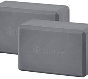 Gaiam Essentials Yoga Block (Set of 2) - Supportive Latex-Free EVA Foam Soft Non-Slip Surface for Yoga, Pilates, Meditation