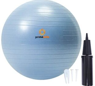 Primasole Exercise Ball (25.6inch Pale Gray) for Stability, Balance, Fitness with Inflator Pump Balance Ball PSS91NH017A