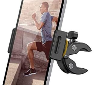 "Spinning Bike Tablet Holder Mount - Lamicall Treadmill Tablet Stand, Indoor Stationary Exercise Bicycle Tablet Clamp for iPad Pro 11 / Air / Mini, Galaxy Tabs and More 4.7-12.9"" Tablets and Cellphones"