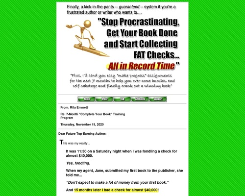 Frustrated Authors Finish & Publish Your Book Get Big $ 6-month System