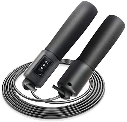 skybulls Counter Jump Rope, Adjustable Fast Rope Skipping Jumprope for Exercise Adult Teens Kids Adjustable Jumprope Workout Fitness Racing Training Skipping Student Testing