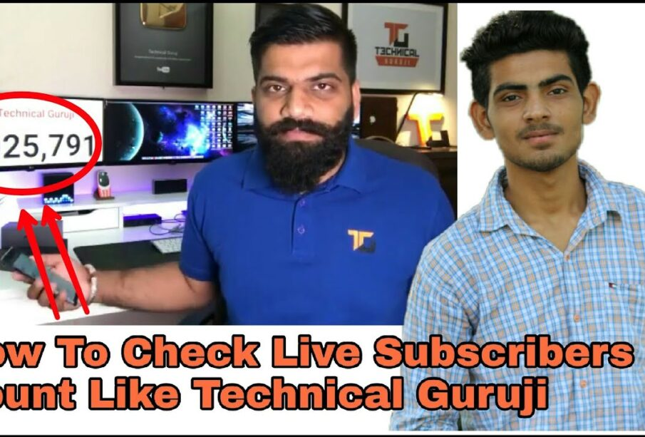 How To Check Live Subscriber Count On YouTube Channel Like PewDiePie Vs T Series